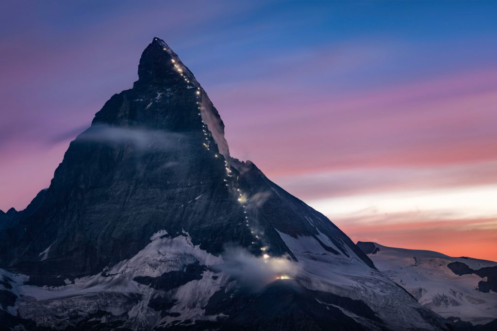 Expectations of mountain peaks